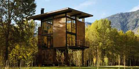 olson sundberg kundig alelen known as tom kundig designed a cabin made of steel in the name delta shelter this building is designed to be secure at all of - Secure Home Design