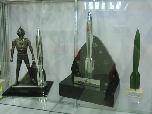 Vintage SF Awards Displayed at WorldCon 2009