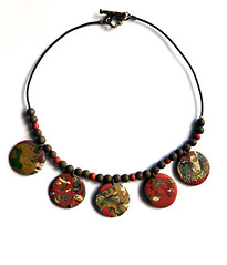 Mokume gane necklace