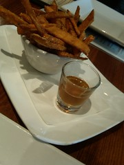 Sweet potato fries and smoked honey at Mojito