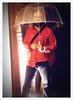 "52 Weeks of ""The One I Love"" (13): The Umbrella King (Sion+Anton) Tags: portrait rain cutie iphone redjacket seethroughumbrella sionfullana ©antonkawasaki gaybeardedmale 52weeksoftheoneilove13 theumbrellaking"