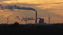 Energie (mikiitaly) Tags: frankreich energie casio provence kraftwerk windrad exilim schornstein rauch