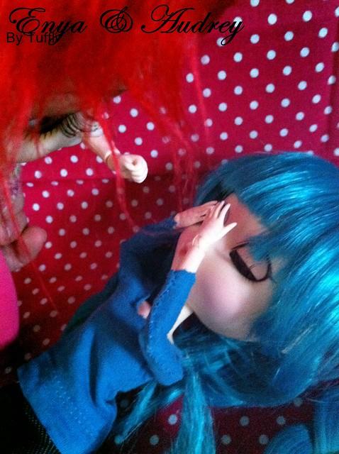 Audrey & Enya - Pullip Vocaloid Hastune Miku & Pullip Lunatic Queen by Tuffli