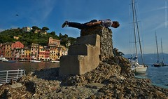Portofino lying down game (exdigecko) Tags: travel summer portrait italy selfportrait nikon liguria portofino d700 layingdowngame gettyvacation2010
