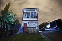 Crewe Station A ([Nocturne]) Tags: nightphotography lightpainting night photography platform trains crewe trainstation nocturne signalbox luminary noctography lightpaintingphotography wwwnoctographycouk