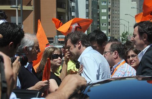 Pedro Passos Coelho arruada em São João da Madeira
