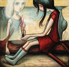 """Time To Go"" (verpabunny) Tags: original painting acrylic thisistheend kellyvivanco alternativecafe"