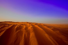 Desert (CristalArt) Tags: blue red sky white black colors yellow digital canon lens landscape photography sand raw view desert angle horizon wide tracks super east adventure experience format middle plain riyadh 1022mm ksa beautifulexpression photographyrocks mywinners
