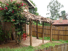 Newly reconstructed banda on Happy Cottage