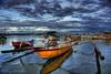 Bersandarlah Biduk Cinta ku (Sayid Budhi) Tags: blue bali yellow boats cloudy hdr perahu kopdar biru kuning sampan darkscape serangan seranganisland berlabuh biduk perahubiduk