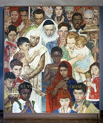 "Norman Rockwell Mosaic  ""The Golden Rule&..."