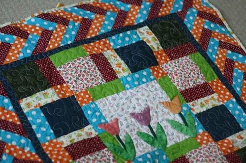 panô de patchwork quiltado