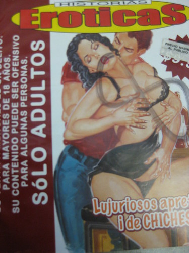 ... over-the-border delicacies: Mexican porn comics selling at 8 pesos each.