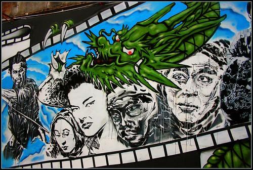 Heroes and Dragons - Graffiti in Ximending