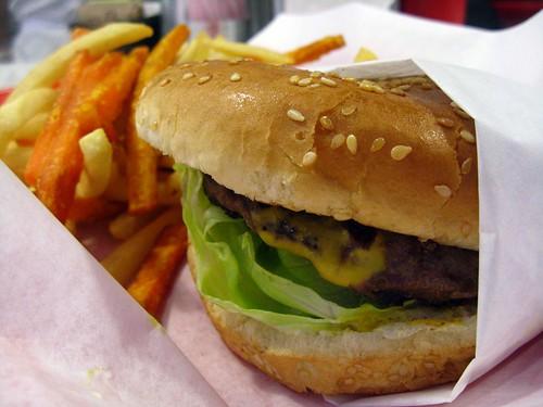(067) cheeseburger w/ fries @ D-Town Burger Bar