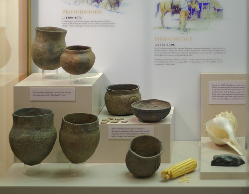 Pere Marquette State Park, in Grafton, Illinois, USA - Indian pottery of the Woodland Period