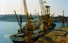 Iranian Cargo Ship Iran Baghaei, Malta Docks  1996