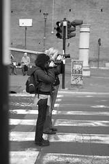 Ready to shot? (F-V-R) Tags: bw roma blackwhite bn semaforo foriimperiali bianconero fvr fabiovalerioromano xelisabetta cndyapple settimana132009romamor
