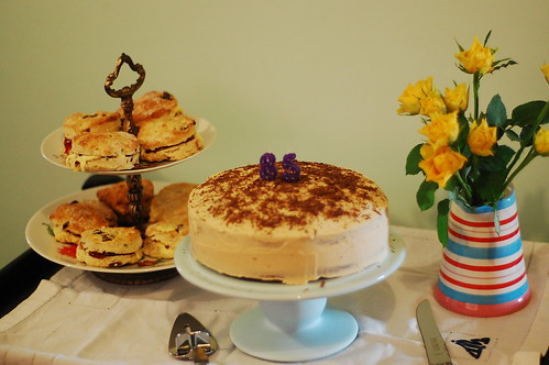 scones and cake