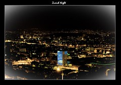 Zurich Night (Indranil.m) Tags: restaurant switzerland march die zurich nightview vignette 2009 indranil mukherjee swisscom waid 450d