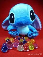 Stitch:  Somebody Lost His Marbles! (mang M) Tags: stuffedtoy macro stitch madeinchina disneycharacter digitalcameraclub pinoykodakero mangmaning2000