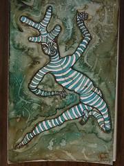 Glimpse of the Gatekeeper (Alberto J. Almarza) Tags: visions dreams secrets gatekeeper liminal blueandbrown shapeshifting paralleldimensions albertojalmarza councilofintelligences bluechairexperiments