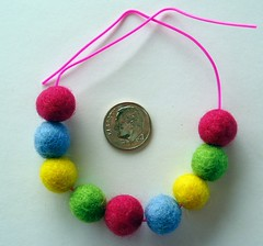 Felted beads for Blythe!