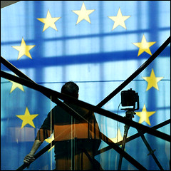 EU flag at the European Parliament