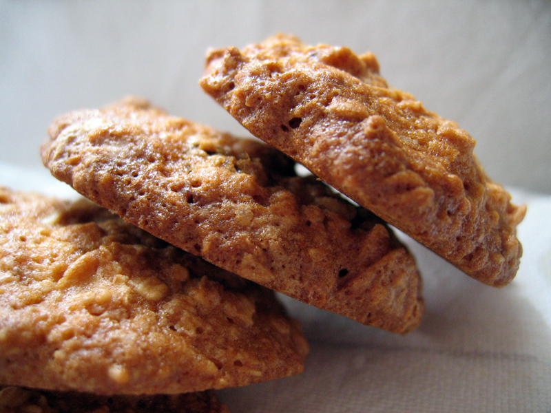 Oat Raisin Almond Cookies
