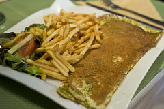 Omelette with Fine Herbs and Fries