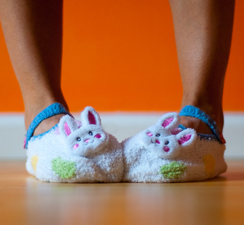 102 - Apr 12 - Bunny Slippers