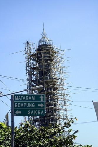 minaret under construction