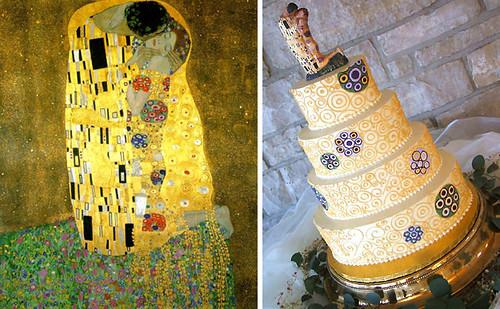 Art Inspired Wedding Cake Beautiful wedding cake adaptation of Gustav