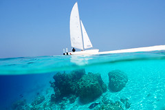 (muha...) Tags: blue summer sky holiday beach water nikon sailing underwater maldives warming global nikond90
