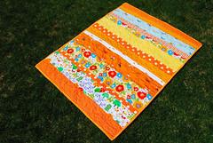 Orange Strip Quilt