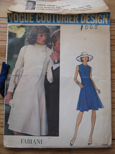 vintage pattern-fitted dress 2