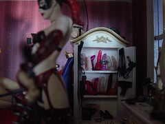 dollhouse bedroom- another taste (slurkflickr) Tags: stockings panties naughty actionfigure miniature bra tiny shackles whip dildo handcuffs kinky collector dollhouse obsessive dominatrix domina buttplug mcfarlane garters suzanneforbes cckring