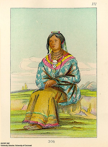 017-How-ee-da-hee una mujer india-George Catlin 1841