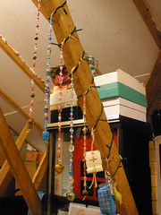 My bead decorations in the attic