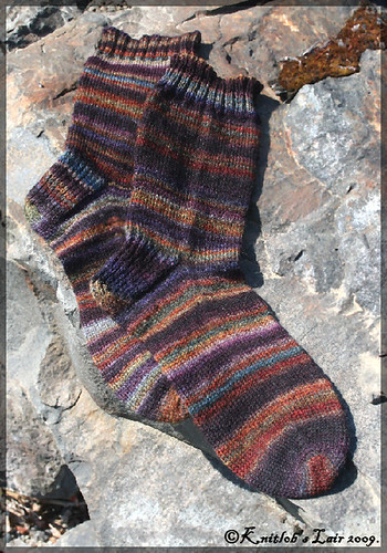 handspun socks stained glass 2