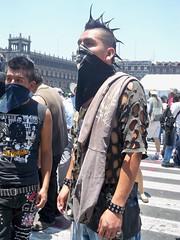 Anarquista2 (Al Navarro San) Tags: mexico df police meeting influenza ciudaddemexico manifestación tapados anarquistas perredistas influenzaporcina swinflu