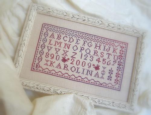 Petites Lettres Rouges. Framed