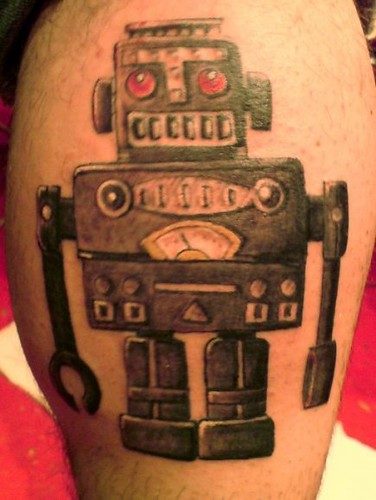 jimbot - my robot alter ego on my leg