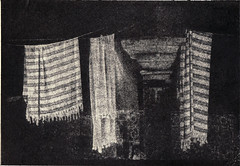 Three Towels (isvibilsky) Tags: israel alt akko turkishbath alternativeprocess altprocess gumoil