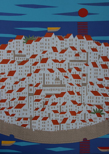 Dubrovnik, 2008, pencil & pen on card collage