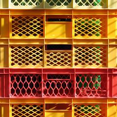 kisten (stemerk44) Tags: red orange color colour rot yellow grid rojo pattern box caja amarillo gelb farbe naranja muster raster kiste