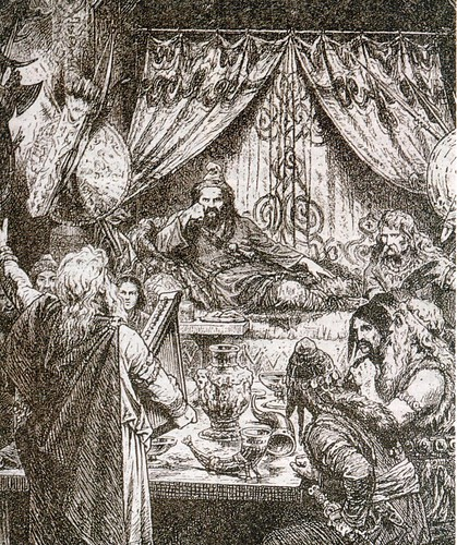 Banquete bárbaro dibujo sg XIX