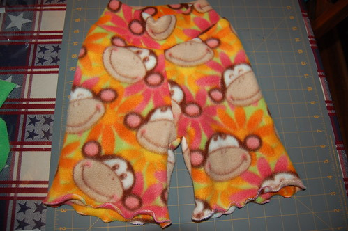 Monkey Shorties with Lettuce Hems!