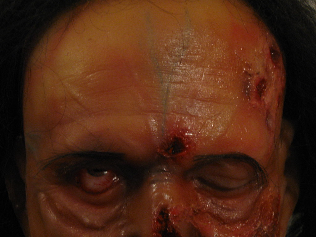 Latex foam filled zombie from Wrights FX