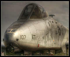 Warthog (Cygnus~X1 - Visions by Sorenson) Tags: a10 thunderbolt thunderboltii warthog fairchildrepublic usaf unitedstatesairforce airforce tankkiller aircraft airplane plane jet armored indianapolis indiana mtcomfort airshow hdr 1exp canon rebel xti efs1855mmf3556is summer 2008 craigsorenson usa 20090527003231z beautifulshot